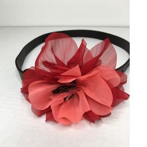 Hollister Leather Belt with Flower